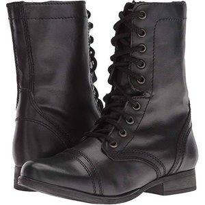 black steve madden troopa combat boots
